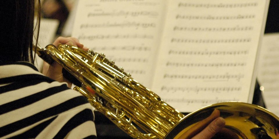 French Horn at a rehearsal